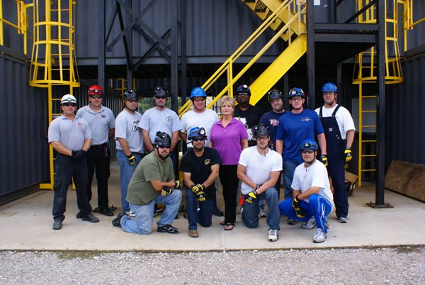 Rescue team from the BP deep water oil platform Nakika